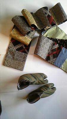 半巾帯と足袋を作りました! !